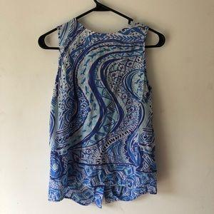 Lilly Pulitzer nautical blue fish print tank top
